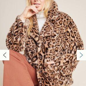 Anthropologie leopard print jacket